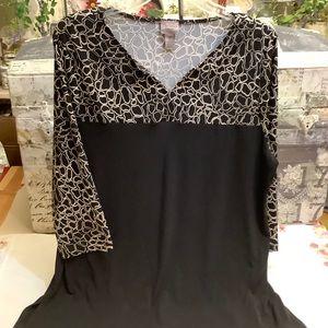 Chicos Easy wear Black Tan Tunic 2